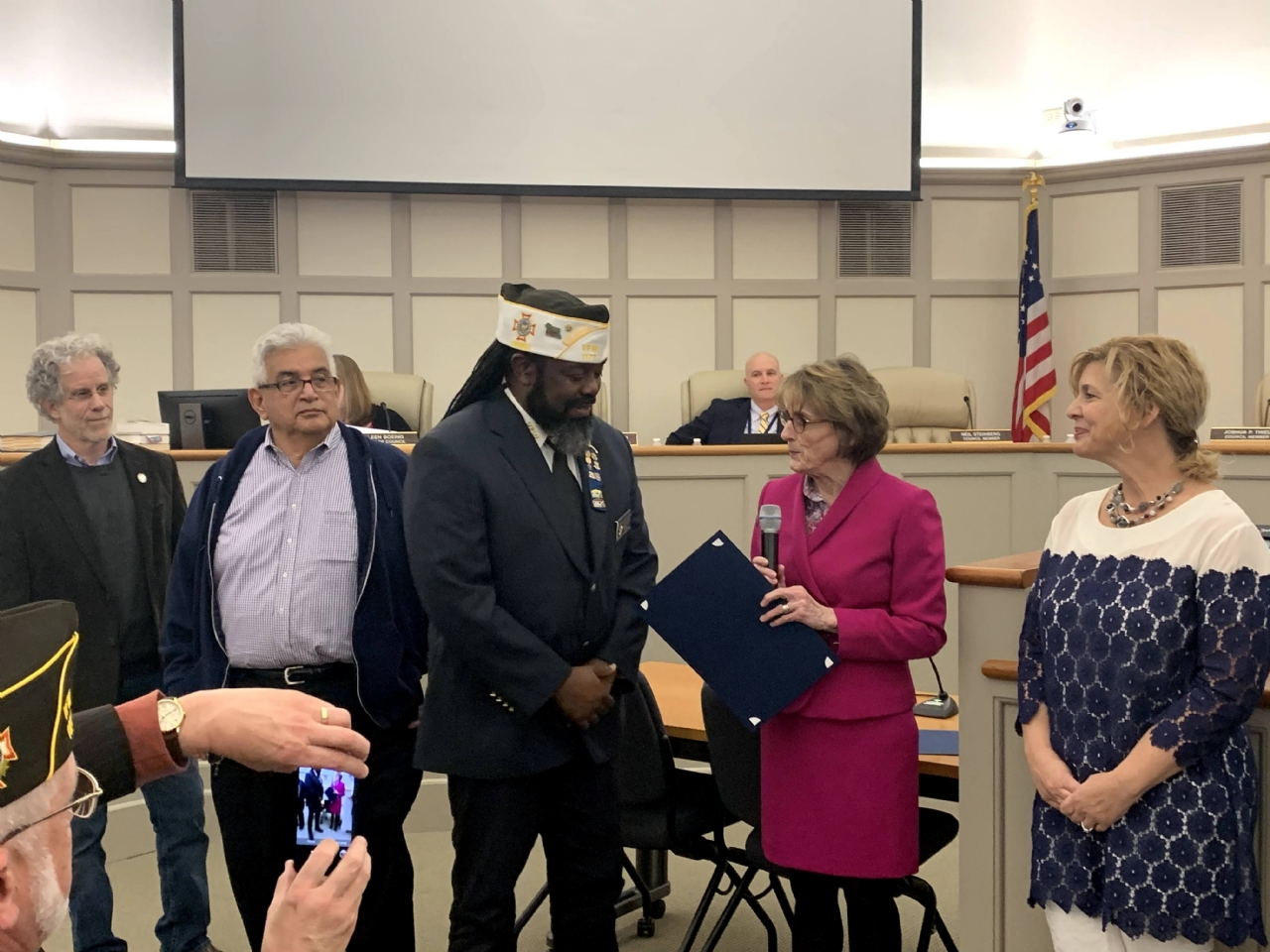 Commander Ray recognized by the Town of Leesburg for his contribution to civic activities and for being the first and only African American of west Indian origin to be post commander of the VFW Post 1177.
