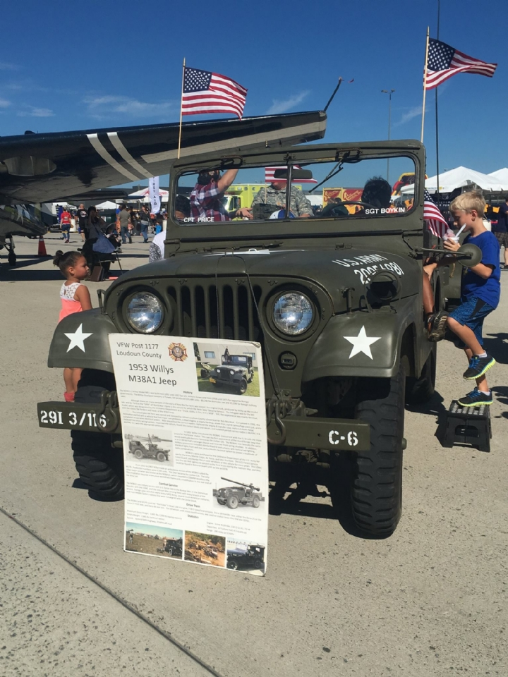 Attendees were given the opportunity to take pictures with the jeep.